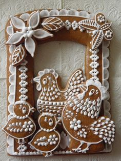"PERNÍKY VELIKONOCE, as best I can tell it translates to ""Easter Spice"" in Czech. Click through to see MANY more gorgeous cookies!"