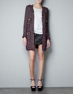 FANTASY FABRIC COAT - Coats - Woman - ZARA Indonesia