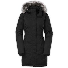 The North Face Women's Arctic Down Parka ($299) ❤ liked on Polyvore featuring outerwear, coats, tnf black, parka coat, the north face, the north face parka, insulated trench coat and parka trench coat