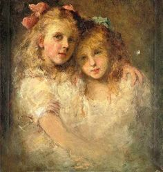 """""""Sisters"""" -- by Jacques Emile Blanche (French, 1861 – 1942)"""