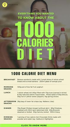 The rationale behind the 1000 calorie Indian diet plan is that the drastic reduction of caloric intake results in weight loss with little or no ... #weightloss #diets