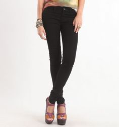 Bullhead Black  Starry Black Skinniest Jeans...My most favorite, FAVORITE jeans in the whole world! They fit me just as if they were tailored for me.....Hard to find.