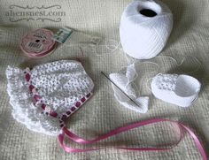 Free Baby Crochet Patterns | Crochet a Cute Baby Bonnet – Free Vintage Crochet Pattern