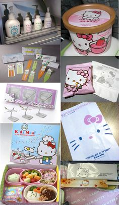 From food to toiletries, Hello Kitty branded items for Eva Air. PD