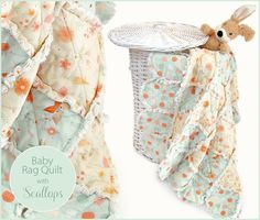 Baby Rag Quilt with Pretty Edge Scallops