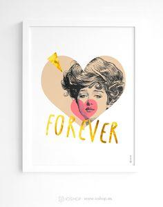 Colección forever - Arte para San Valentín. El regalo más original #regalo #sanvalentin #arte www.ioshop.es
