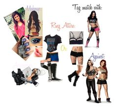 The Shield & AJ Lee Inspired by keadonee124 on Polyvore featuring Qupid, Leg Avenue, INDIE HAIR, Converse and Julio