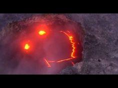 """噴火するからって""""おこ""""なわけじゃないんだよ。ねっほら、スマイル!っていう自然の遊び心。キラウエア火山の噴火口に現れた奇跡のスマイル : カラパイア"""
