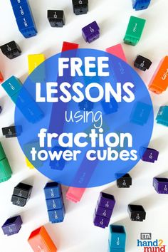 Fraction tower cubes are the perfect manipulates for upper elementary students to explore fractions.  Use them for hands-on learning to introduce equivalent fractions, comparing fractions, mixed numbers, and even adding & subtracting with unlike denominators.  Sides on the cubes display fractions, decimals and percentages.  Use them with task cards for independent student practice, or as part of your small group instruction.  Fraction tiles help students recognize that fractions fit together to