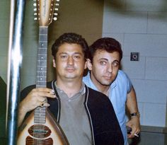 "Tommy Tedesco (G) & Hal Blaine (D) of the ""Wrecking Crew"" greatest session Musicians of All time."