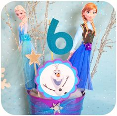 FROZEN Party Characters Centerpiece Printable    These are the perfect center pieces for the Frozen lover in your family! Complete with Olaf,