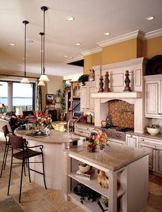 raised island  - Luxury Custom Home Photo of Model Biscayne III -