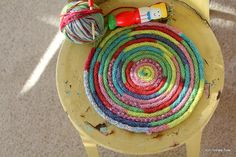 Idea - French knitting - a fun use for the super-long snake created by fun work.