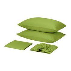 DVALA Sheet set, bright green - IKEA
