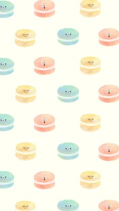 #illustration #illust #doddle #drawing #macaron #pattern Macaroonz Smartphone Wallpaper Wallpaper Size, Cartoon Wallpaper, Pattern Wallpaper, Draw So Cute Food, Macaron Wallpaper, Pencil Shading, Cute Doodles, Cartoon Design, Backgrounds