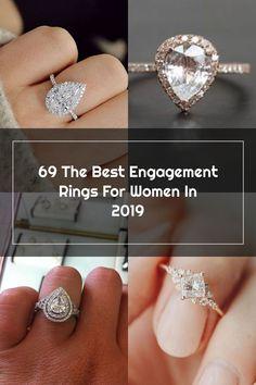 engagement rings for women pear cut diamond halo gold Wedding Rings Teardrop, Best Engagement Rings, Halo Diamond, Pear, Diamond Earrings, Crystals, Gold, Jewelry, Women