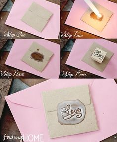 Custom Wax Seal with stamps and candle wax. i used to color on the back of envelopes to make it look like a wax seal cause i never knew how to do the wax thing. i'm definitely going to try this