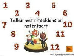 Digibordles: Ritseldans en notentaart Tellen 1 - 12 http://digibordonderbouw.nl/index.php/themas/herfst/ritseldans