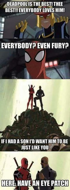 Even Fury loves Deadpool!