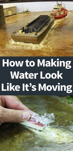 """One of the questions I get asked most when people see my layout or pictures of it is """"How do you make the water look like it's moving""""? Making Water, Ho Scale Trains, Modeling Techniques, Bluff City, Military Diorama, Model Train Layouts, Military Modelling, Model Building, Classic Toys"""