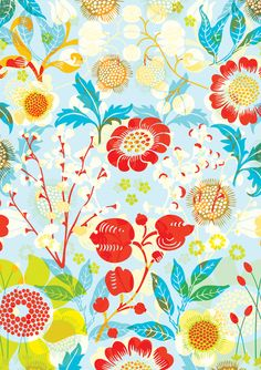 gift wrap, floral patterns, contemporari greet, flower paintings, gifts, greeting cards, postcard, flowers, mini