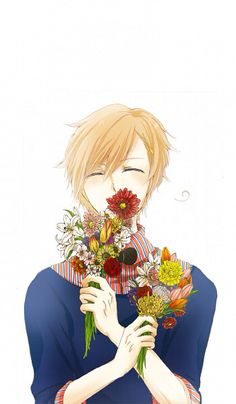Hetalia (ヘタリア) - Norway (ノルウェー) ❄️<< I feel like he's smiling under the flowers...