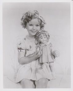 1935 Shirley Temple & Shirley Temple Doll in daisy dress from Curly Top