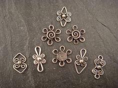 filigree dangles by downtothewiredesigns