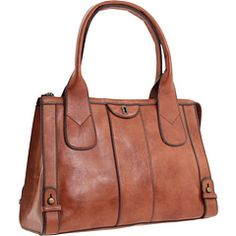 Fossil Vintage Re-Issue Satchel - Color: Camel Fossil Bags, Fossil Purses, Material Girls, Mom Style, Laptop Bag, Camel, Vintage, Fashion Accessories, Satchel