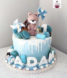 : Kommentare: 1 - Cakemesweet (cakemesweet_nay) auf quot; Toddler Birthday Cakes, Baby First Birthday Cake, Birthday Cakes For Teens, Boys 1st Birthdays, Cake 1 Year Boy, Torta Baby Shower, Bolo Cake, Baby Boy Cakes, Birthday Cake Decorating