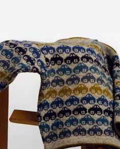 Biler - Cars by Hanne Thorsen - NikolajGarn Knitting For Kids, Knitting For Beginners, Crochet For Kids, Crochet Baby, Knit Crochet, Knitting Machine Patterns, Fair Isle Knitting, Baby Sweaters, Knitting Designs