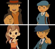 Unless you've played Professor Layton, you'll never understand how great it feels to see them pointing at you.