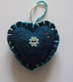 Felted wool pincushion by Rowenberrystitches on Etsy, £8.00