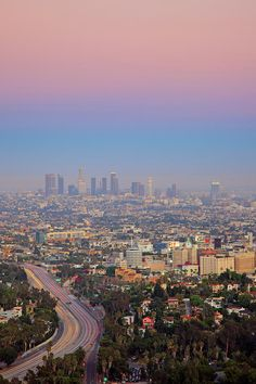 Cityscape Of Los Angeles. There are times when I feel lonesome for the place where I was reared.
