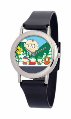 South Park Men's D1539SS414 Torino Collection Mr. Mackey Black Plastic Strap Watch South Park. $29.99. Durable mineral crystal. Water-resistant to 99 feet (30 M). Plastic watch strap with buckle. Quality and precise Japanese-quartz movement. South Park artwork