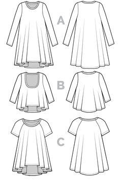 Ebony Tee Pattern // Knit Dress Pattern // Closet Case Patterns