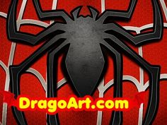 How to Draw the Spiderman Logo, Spiderman Symbol, Step by Step