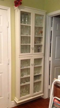 shallow depth shelving for kithen | Custom made kitchen shallow wall cabinet with glass doors $125.00 --78 ...