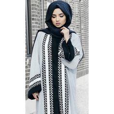 Instagram media shoppillar - P I L L A R @saimascorner wearing our Sarana… How To Wear Hijab, Hijab Wear, Abaya Fashion, Modest Fashion, Abaya Designs, Islamic Fashion, Islamic Clothing, Kaftans, Mode Hijab