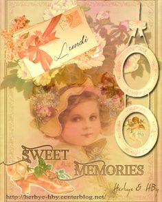 Vintage:Child-Little Girl- Sweet Memories:  lundi (Monday)