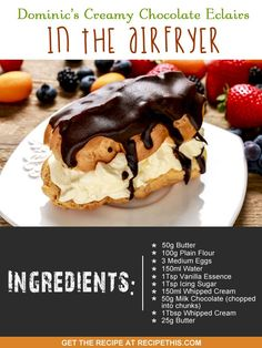 Airfryer Recipes | Dominic's creamy chocolate eclairs in the airfryer