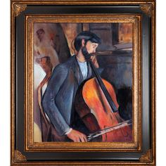 The Cellist by Amedeo Modigliani Framed Original Painting