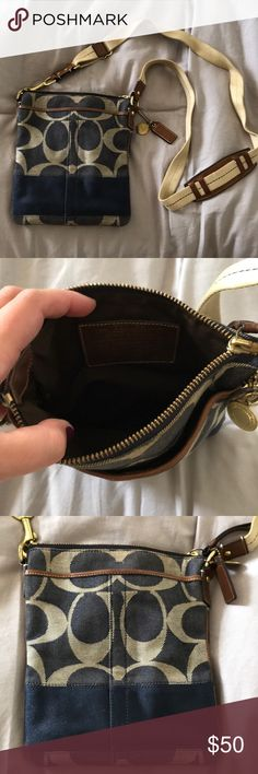 Jeans coach handbag Like new, used 3 times. Smoke free. Coach Bags Crossbody Bags