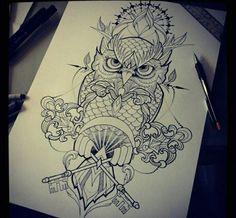 Image via We Heart It #animal #drawing #owl #pen