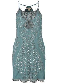 Amazing 1920s dress - Frock and Frill JOSEPHINE Cocktail dress / Party dress teal