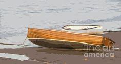 Wooden dinghy  by Sebastien Coell