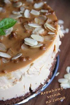 Krówkowy sernik na zimno Sweets Cake, Cookie Desserts, Sweet Desserts, No Bake Desserts, Sweet Recipes, Delicious Desserts, Dessert Recipes, Yummy Food, Xmas Food