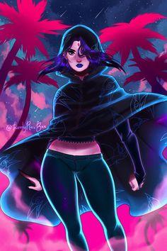(Good or evil) (Posting with permission) amazing art by on ig -inspired by 's casual Raven /… Raven Teen Titans Go, Teen Titans Fanart, Superhero Images, Memes Arte, Comic Book Girl, Raven Art, Mundo Comic, Female Hero, Beast Boy