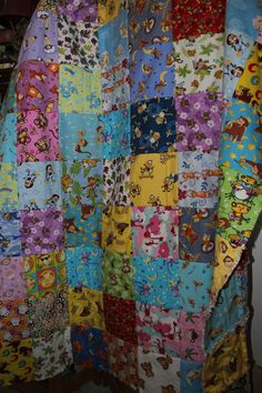 This is a rag quilt I created using Monkey fabrics. First time trying a rag quilt.
