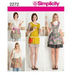 Simplicity Pattern 2272-Crafts Aprons-S-M-LSimplicity Pattern 2272-Crafts Aprons-S-M-L,